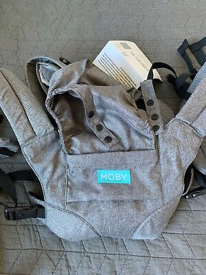 moby wrap baby carrier 2-in-1 with hip seat.