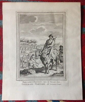 Tartary People 1749 Bellin-Van Schley Antique Engraved View 18Th Century