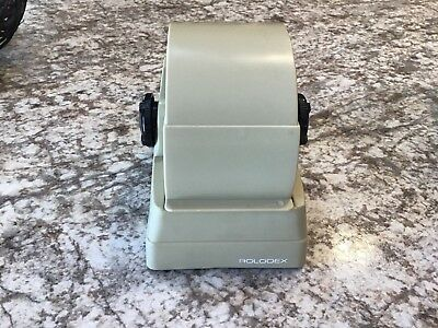 Zephyr American Corp Covered Plastic Beige Rolodex Rotary Index File Mini