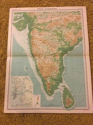 old world atlas Plate Map India Southern Section