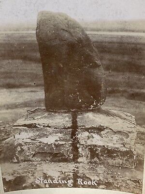 NATIVE AMERICAN INDIAN CABINET CARD Antique PHOTO STANDING ROCK Reservation