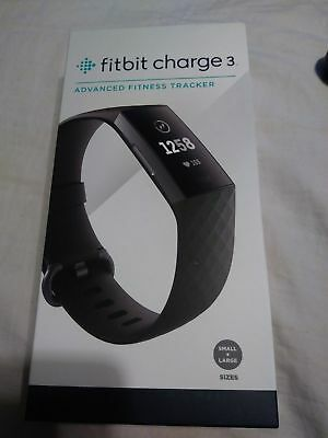 Fitbit Charge 3 Activity Tracker + Heart Rate - Graphite Black , Swim Proof