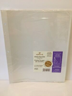 Hallmark Ar1023 Self Adhesive Pages Large 3 Ring Album Refill 8