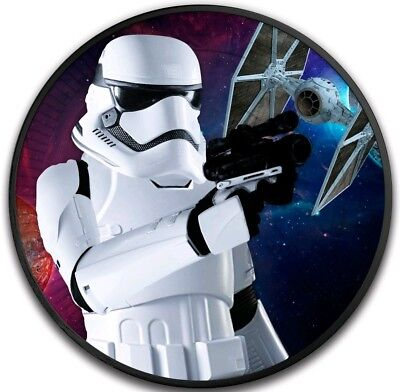 2018 1 Oz Silver Niue $2 STAR WARS STORMTROOPER SPACESHIP Ruthenium Coin.