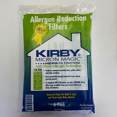 6 Style F Premium HEPA Filtration Vacuum Bags Replacement for Kirby Sentria