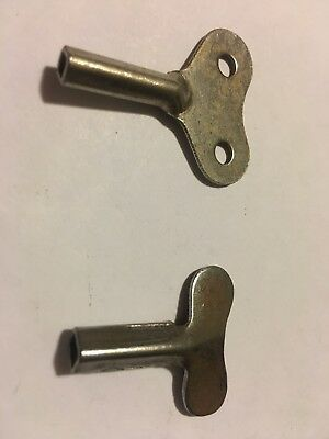 2 Vintage Clock Winding Keys