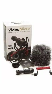 Rode VideoMicro Compact On-Camera Microphone Brand New! Free Shipping