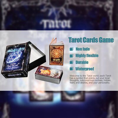 Tarot Cards Game Family Friends Outdoor Read Mythic Fate Divination Table A6