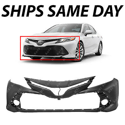 NEW Primered Front Bumper Cover Face for 2018 2019 Toyota Camry L LE & LE Hybrid