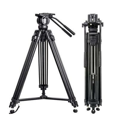 Professional Heavy Duty DV Video Camera Tripod with Fluid Pan Head For Camcorder