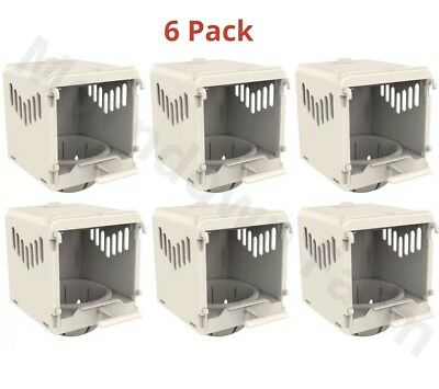 6X Canary Nest Pan Luxury External Nest Box For Canary and Other Birds