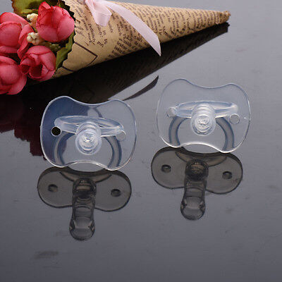 1 Pcs Newborns Baby Pacifiers Safety Soft Silicone Bite Gags Pacifier Care JB