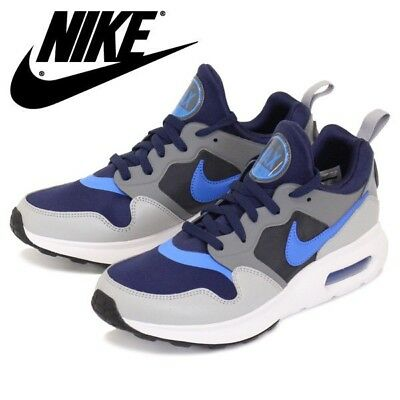 New Nike Air Max Prime Men'S Basketball Shoes Sneakers Blue Grey White Sz/ 8