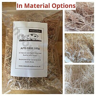Canary, Finch, Budgie Cage Bird Nesting Material for Aviary Birds in OPTIONS