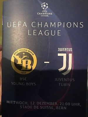 Rare Programma Program Young Boys Juventus Champions League 2018/2019 Perfect