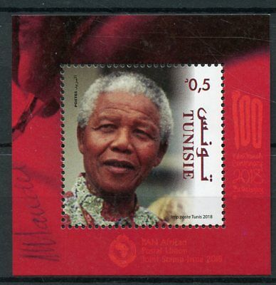 Tunisia 2018 MNH Nelson Mandela PAPU 1v M/S Politicians Famous People Stamps