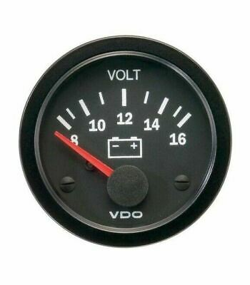 VDO Voltmeter 12v 8-16 Volt Range Analogue VW Beetle T2 Split T2 Bay 321919531A