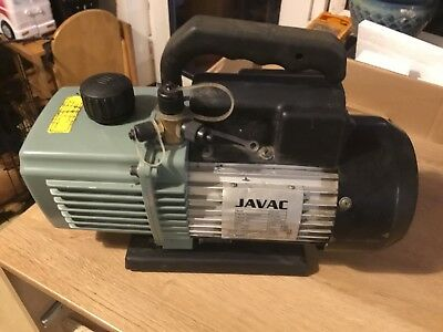 Javac CC-141 Two Stage Vacuum Pump For Air Conditioning Refrigeration Good Order