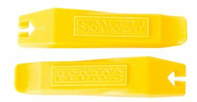 0Pair of (2) Pedro's Bicycle Tire / Tube Change Levers Tool Set - Yellow