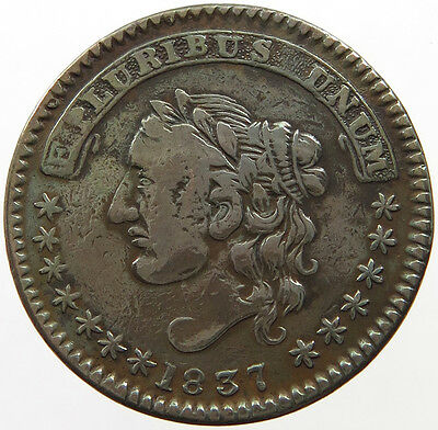 UNITED STATES TOKEN 1837  SAM MAYCOCK & CO CITY HALL PLACE NEW YORK   #t22 373