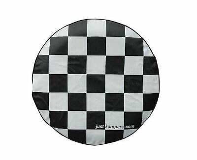 Just Kampers Chequered Soft Spare Wheel Cover VW T2 Split 64-67 T2 Bay 67-79