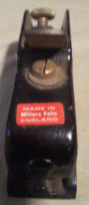 Vintage  Millers Falls No 4-02 Bull Nose Rabbet Plane  MADE IN ENGLAND