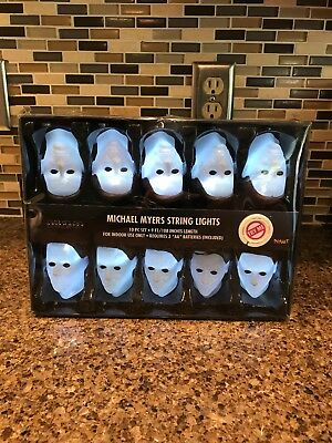 Michael Myers Halloween String Lights 9ft Long! Halloween H2O! Brand New