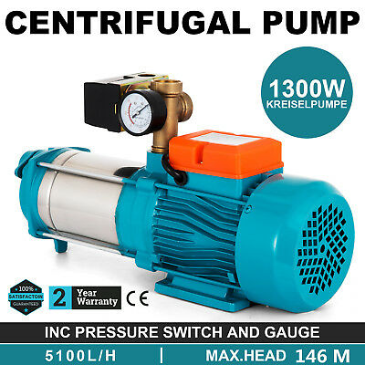 #VEVOR MH1300 electric multistage centrifugal booster water PUMP 1.7HP 85L/min