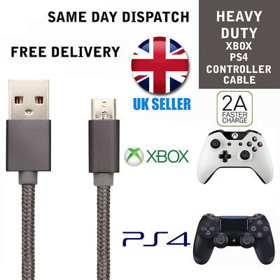 XBOX ONE Grey Charging Cable GamePad Charger Lead Micro USB Charger lead xboxone