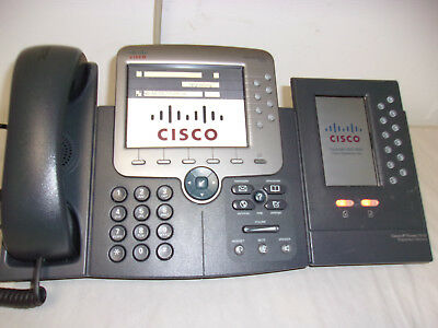 Cisco Cp-7975G With Cp-7916 Single Stand   Defaulted
