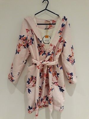 Joules Kids Childrens Girls Floral Dressing Gown Night Wear - Age 11-12 Years