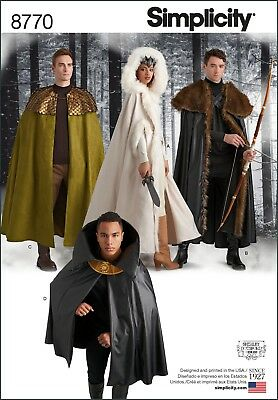 S8770 Simplicity 8770 Sewing Pattern Costume Game of Thrones Joffrey Ramsey GoT