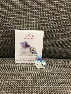 "2018 ""FURRY LIL' FRIENDS"" Hallmark Keepsake ""MINI"" Ornament *NIB* FREE SHIPPING!"