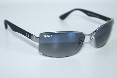6326d217f1c Ray Ban Active Polarized Sunglasses RB3478 004 78 Gunmetal Frame W  Blue    Grey