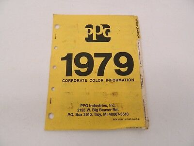 1979 Ford Dodge GMC Chrysler PPG Corporate Color Information Paint Chips Booklet