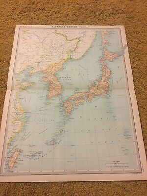 old world atlas Plate Map Japanese Empire Political