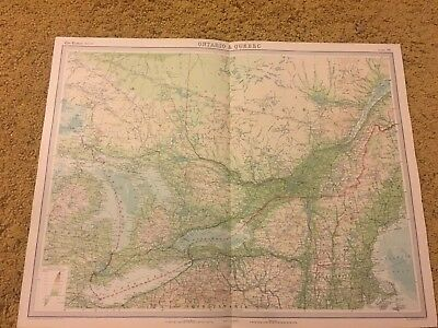 old world atlas Plate Map Ontario & Quebec
