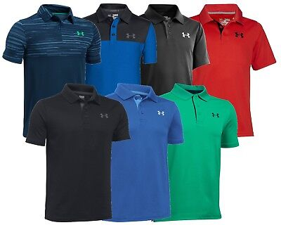 Under Armour Boys Junior Golf Polo Shirt Clearance - ALL SIZES - 1st Class Post