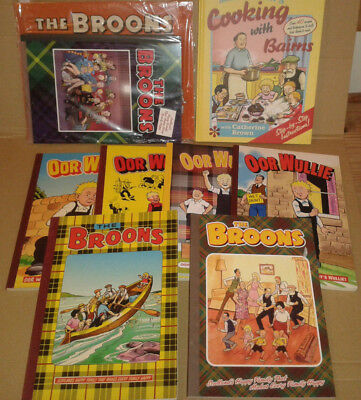 JOB LOT of OOR WULLIE & THE BROONS ANNUALS  w/2018 GIFT SET CALENDAR & COOKBOOK