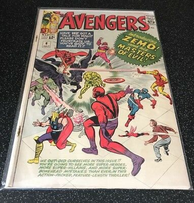 Avengers #6 1st app. Zemo and his Masters of Evil G/VG