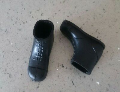 "Original Palitoy Vintage Action Man Pair of Black Short Boots for 12"" Figure"