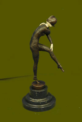 Bronze Sculpture of Egyptian Dancer, after Chiparus Hand Mase Figurine Figure NR