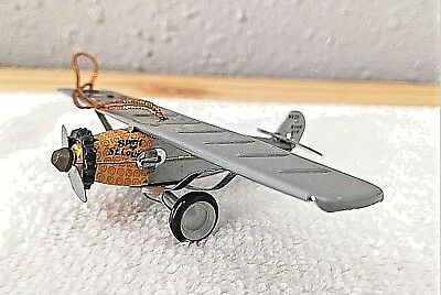 "Schylling ""Spirit of St. Louis"" Small Tin Christmas Ornament 1998"