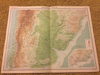 old world atlas Plate Map Argentina, Chile