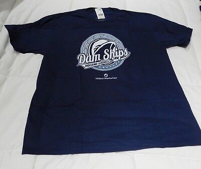 Holland America - Dam Ships - T Shirt - Xl - New With Tags - Free Shipping