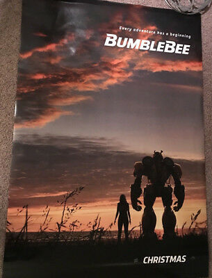 BUMBLEBEE Auth Orig DS 4 x 6 ft Movie Bus Shelter Size Poster Banner Transformer