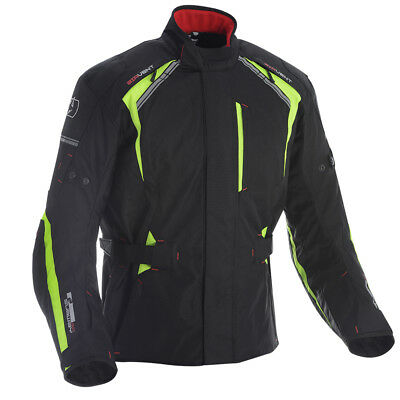 Oxford Subway 3.0 Textile Waterproof Motorcycle Motorbike Jacket Black Fluo