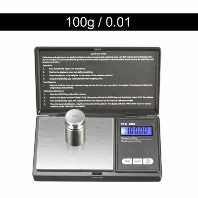 100g * 0.01g LCD Digital Pocket Scale Jewelry Gold Gram Balance Weight Scale GAB