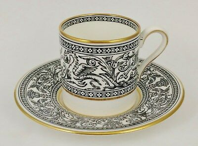 Antique ENGLISH WEDGWOOD CHINA Porcelain TEA CUP + SAUCER England FLORENTINE
