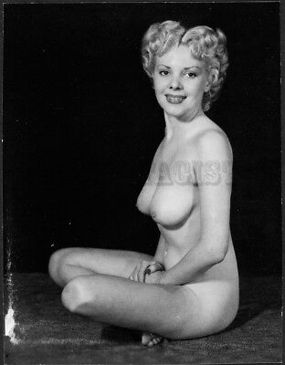 Vintage Nude Photographic Print  BUSTY BLONDE ^^ POSES